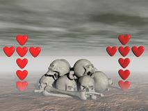 Love and death - 3d rendering Stock Photo