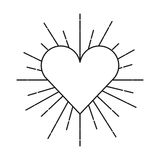 Heart love sunburst icon Stock Photos