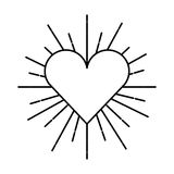 Heart love sunburst icon Stock Image