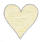 Heart love symbol with abstract pattern. On white background, hand drawn Royalty Free Stock Images