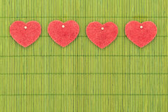 Heart and love symbol against bamboo sticks Stock Image