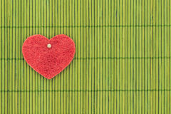 Heart and love symbol against bamboo sticks Stock Images
