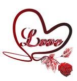 Heart of love symbol logo Stock Photo