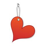 Heart love tag as valentine day symbol Stock Photos