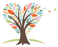 Heart Love Tree. Beautiful tree design with the branches of the tree createing a natural heart shape vector illustration