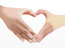 Heart of Love, Two Hands Make Heart Shape Royalty Free Stock Image
