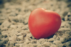 Heart of love in Valentine's day on stone Stock Images