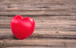 Heart of love in Valentine's day on wooden Royalty Free Stock Photography