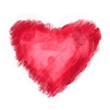Heart love watercolor paint Stock Photos