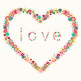 Heart and LOVE word Stock Photo