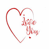 Heart Love You Card Royalty Free Stock Photos