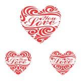 Heart Love You stock photos