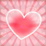 Heart Lovely Colorful Design Stock Image