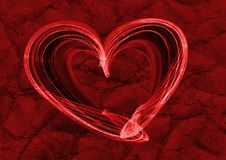 Heart lovely red background texture stock image