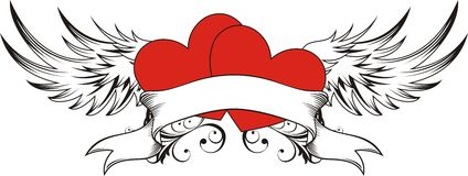 Heart lovers tattoo Royalty Free Stock Photography