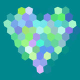 Heart low poly hexagon style  mosaic Royalty Free Stock Photography