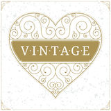 Heart luxury logo template in vintage style Royalty Free Stock Photos
