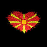 The Heart of Macedonia Flag. The Heart of Macedonia Flag abstract background Stock Image