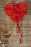 Heart made ​​of curled red paper Royalty Free Stock Photography
