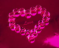 Heart. Made ​​of pink crystal beads Stock Image