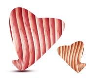 Heart made of wood Stock Photos