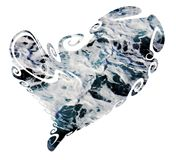 Heart made of agitated waves, love image. An isolated heart is made of agitated sea waves and is placed on white background Stock Images