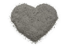 Heart made of ash Royalty Free Stock Images