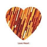 A heart made of autumn colorful lines.. Royalty Free Stock Image