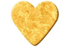 Heart made of autumnal foliage royalty free stock photo