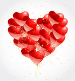 Heart made of balloons Royalty Free Stock Photography