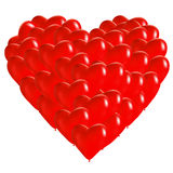 Heart made of balloons Stock Photography