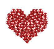 Heart made of balloons. Heart made of red flying balloons Stock Illustration