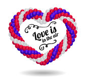 Heart made from balloons for the wedding ceremony. Royalty Free Stock Image