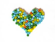 Heart made of beads Royalty Free Stock Photo