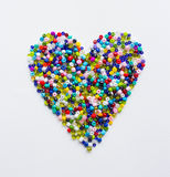 Heart made of beads Royalty Free Stock Photos