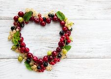 Heart made from berries stock image