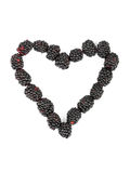 Heart made of blackberry Royalty Free Stock Image