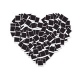 Heart made with blank photo frames Stock Images