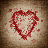 Heart made of blood drops Royalty Free Stock Photography