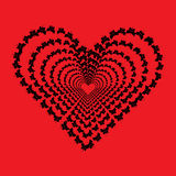 Heart made of butterfly Royalty Free Stock Images