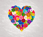 Heart made with the buttons Royalty Free Stock Photo