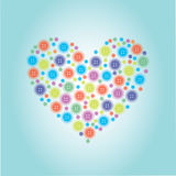 The heart made of buttons Royalty Free Stock Photography