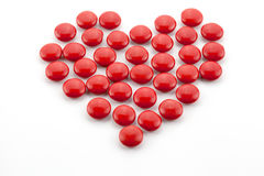Heart made of candies Stock Photo