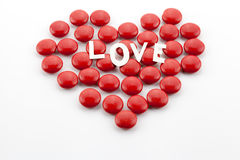 Heart made of candies Royalty Free Stock Photos