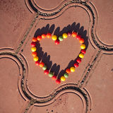Heart made from candy Stock Photography
