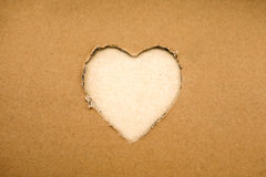 Heart made of cardboard (the theme for Valentine's Day) Stock Photography
