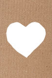 Heart made of cardboard Royalty Free Stock Images