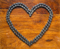 Heart made of chain Stock Images
