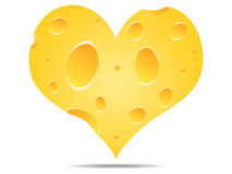 Heart made of cheese Stock Images