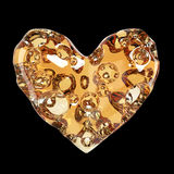 Heart made of cheese with holes. high quality rendering. Concept love for , valentines day, romance, passion, isolated Royalty Free Stock Photos